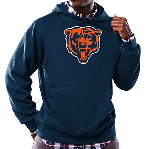 Chicago Bears Tek Patch Fleece Pullover Hooded Sweatshirt Large (Fleece Bears Sweatshirt)