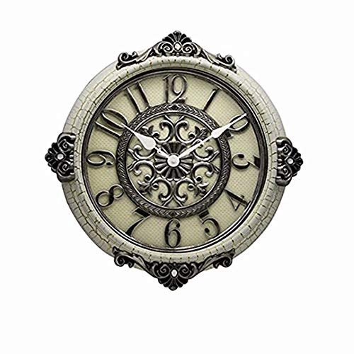 SMC 20-inch Modern Living Room European Art Idyllic Mute Round Wall Clock,Plastic Frame by SMC