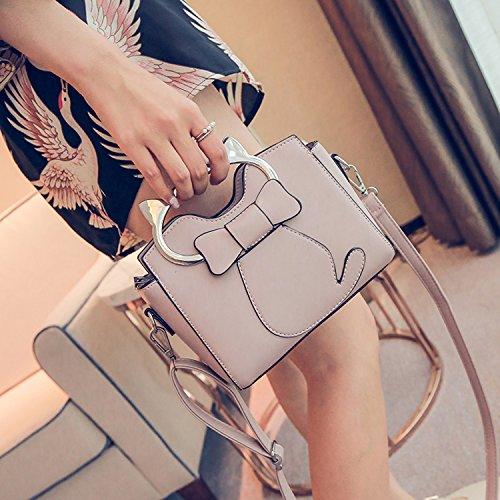 Shoulder Leather Handbag Purse Pattern Body Bag 1 Womens Girls PU Small Cross SEALINF Handle Cat Top qKzpwKxUHT