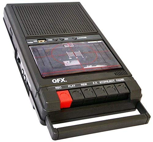 QFX RETRO-39 Shoebox Tape Recorder with USB Player Accessory Consumer Accessories