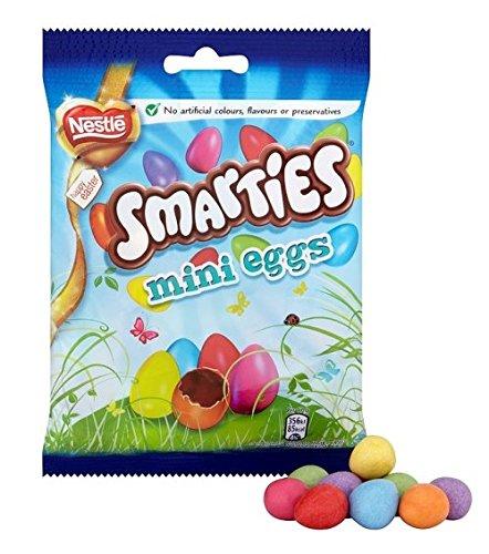 Nestle Smarties Mini Eggs Bag 100G (Pack Of 6)