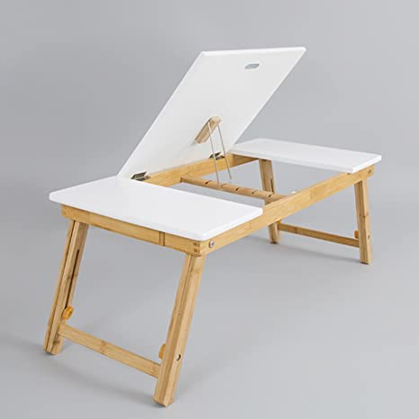 NEW Bamboo Portable Folding Legs Laptop Notebook Table Bed Tray PC Desk Stand