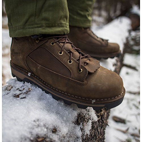 Danner Mens Powderhorn 10 Height Brown (43141) Jachtlaarzen | Gore-tex (gtx) Leren Wandelschoenen Waterdicht | Voetbed Ortholite Moderne Gevechtslaarzen