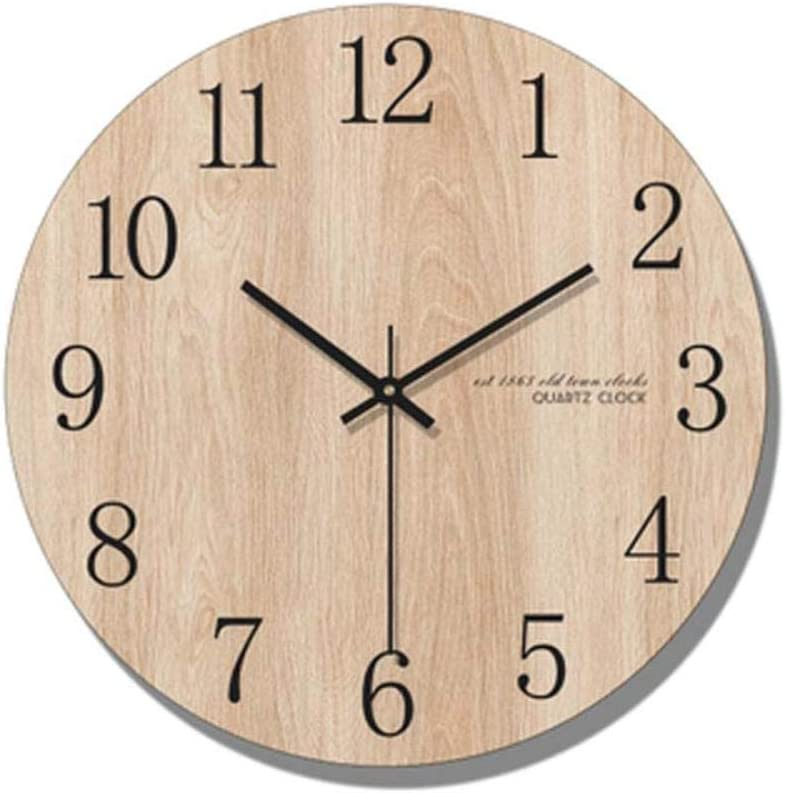 NA Reloj de Pared Reloj De Pared Minimalista Diseño Moderno Decoración De La Sala Relojes De Pared De Madera Nórdica Reloj De Cuarzo Decoración para El H