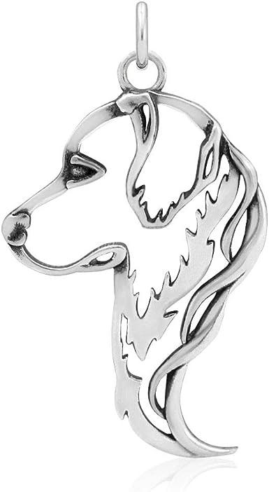 Golden Retriever Sterling Silver Pendant