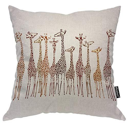 Amazon.com: Moslion - Funda de almohada cuadrada con diseño ...