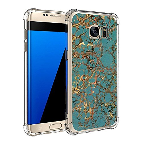 Price comparison product image Beryerbi Samsung Galaxy s6 Edge Plus Case Super Slim Flexible TPU Anti-scrape Air Cushion Technology Marble Pattern Protective Cover (7, Galaxy s6 Edge)