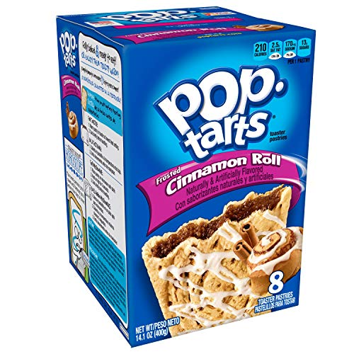 Pop-Tarts Breakfast Toaster Pastries, Frosted Cinnamon Roll Flavored, 14.1 oz (8...