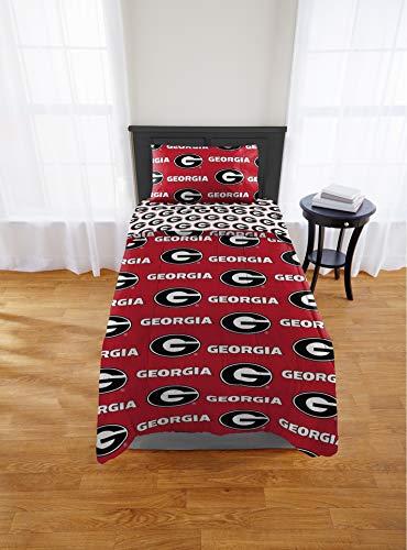 Georgia Bulldogs Twin Comforter & Sheet Set, 4 Piece NCAA Bedding, New! + Homemade Wax Melts