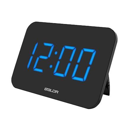 non-brand MagiDeal Moderno Reloj Digital Despertador de Escriotorio Display LED Decoración de Casa -