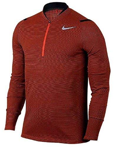 NIKE ナイキ エアロリアクト ゴルフウェア ハーフジップ ロングスリーブ 長袖シャツ XLサイズ(176-185cm) 国内正規品 833279 マックスオレンジ
