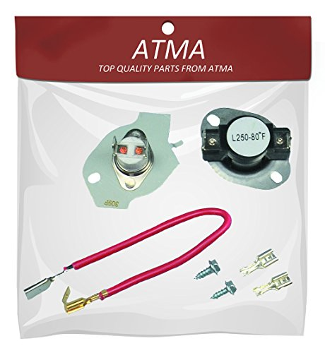 ATMA 279816 Dryer Thermostat Kit Replacement Fit for Whirlpool And Kenmore Dryer Instructions Included Replaces 3399848 3977393 AP3094244