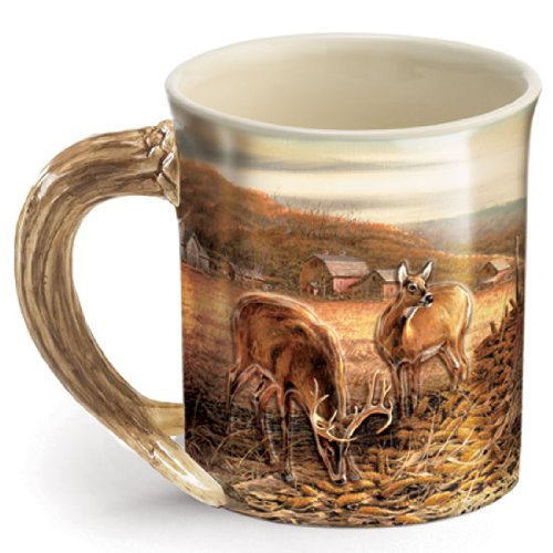 Wild Wings Sculpted Mugs - Sharing The Bounty Antler Handle 16oz. ()