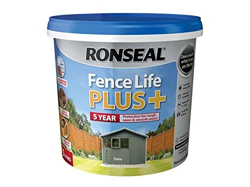 Ronseal RSLFLPPS5L 5 Litre Fence Life Plus Paint - Slate by Ronseal