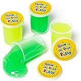 Baker Ross Lot de 4 Pots de Pâtes Gluantes Phosphorescents - 5 cm - Joeuts enfants à utiliser dans le noir