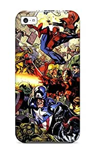 LJF phone case Iphone Cover Case - Marvel Protective Case Compatibel With iphone 4/4s