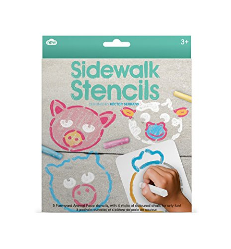 Non-Candy Easter Basket Filler Ideas - sidewalk chalk stencils