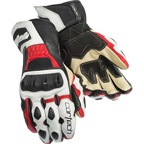 Cortech Latigo 2 RR Adult Street Bike Motorcycle Gloves - White/Red/Large ()