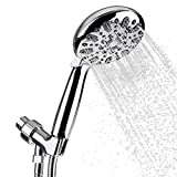 Handheld Shower Head with 6 Lavish Spray Settings from Power Massage to Water Saving Mode; Adjustable Shower Arm Mount, Hose and Sealant Tape Included