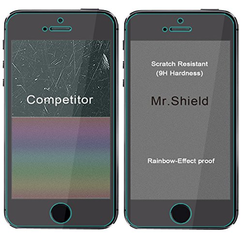 [3-PACK]-Mr Shield For iPhone SE / iPhone 5/5S / iPhone 5C [Tempered Glass] Screen Protector