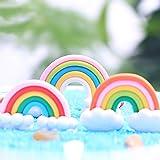 Danmu 5pcs Mini Rotomolded PVC Rainbow Miniature Plant Pots Bonsai Craft Micro Landscape DIY Decor