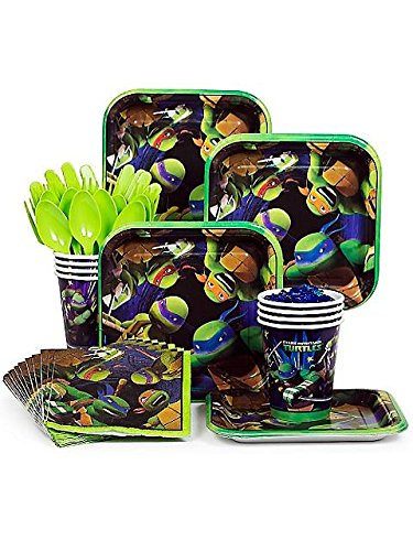 Ninja Turtles TMNT Standard Party Supplies Kit - Serves -