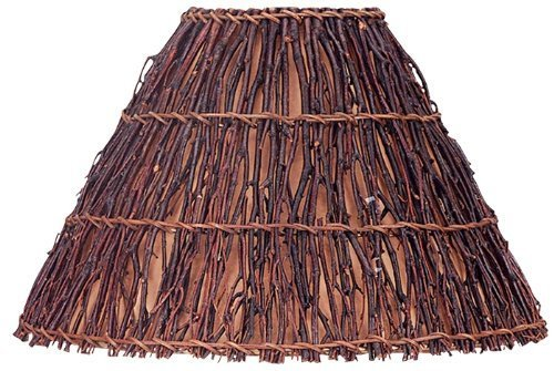 Cal SH-8018 Round Woven Twig Shade, by Cal