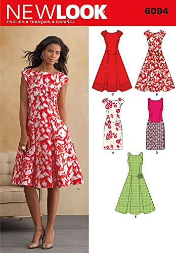 New Look Sewing Pattern 6094 - Misses\' Dresses Sizes: A (8-10-12-14 ...