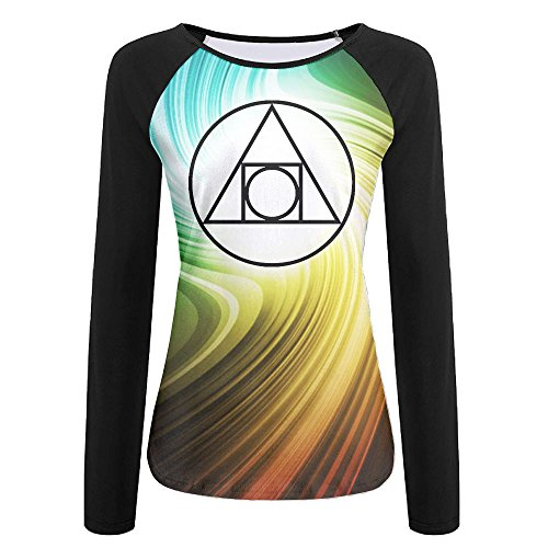 Squared Circle Alchemical Glyph seventeenth Century Autumn Custom Stylish Women's Long Sleeve T-Shirt | Raglan Jersey Shirt - 17th Century Shirts