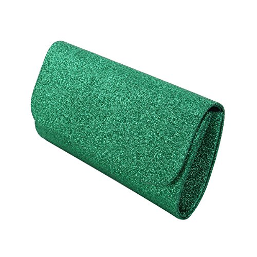 Premium Colors Flap Bag Metallic Handbag Evening Glitter Diff Green Clutch Small AnrqZxA