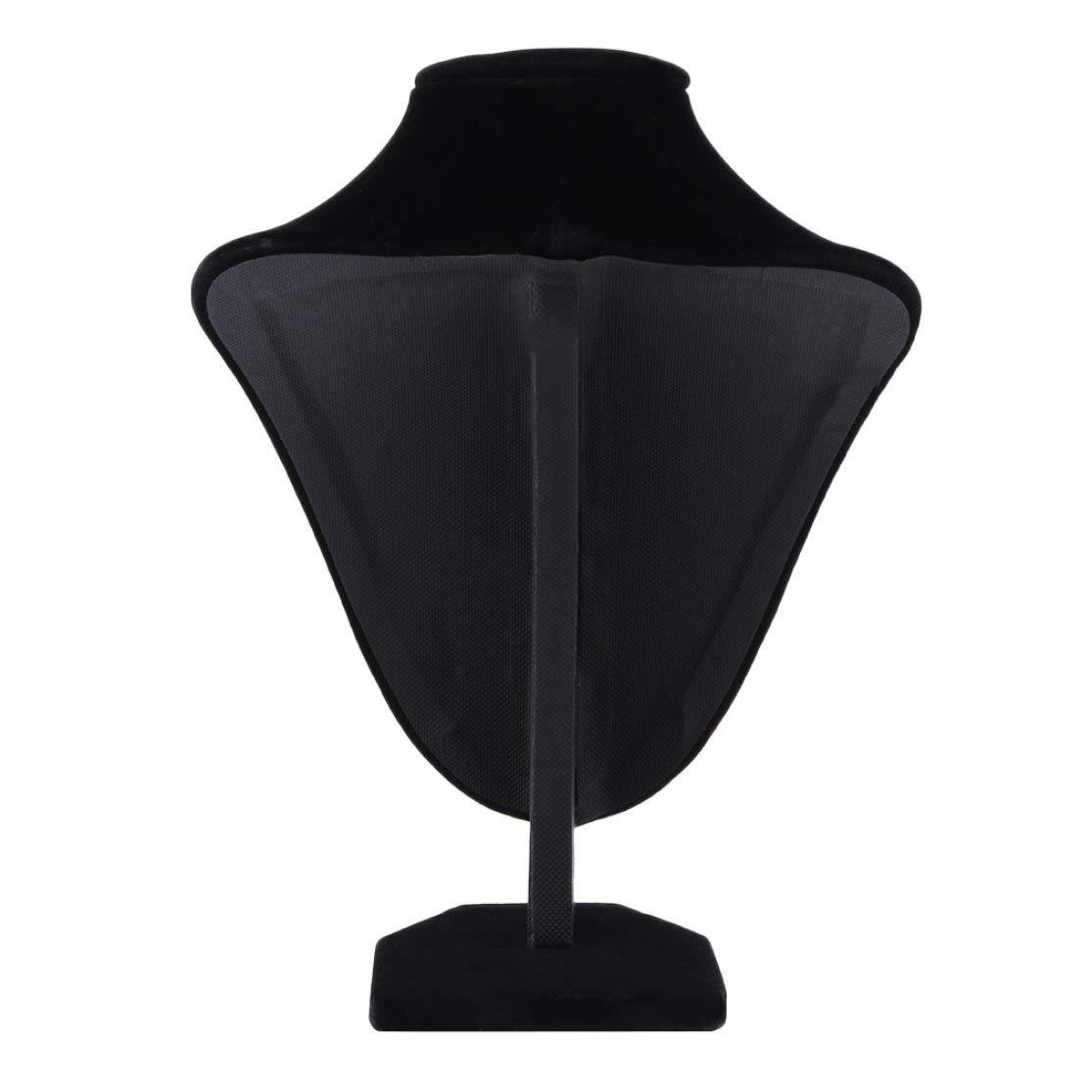 LouiseEvel215 Parfait Noir Mannequin Collier Bijoux Velours Tissu Bijoux Pendentif Pr/ésentoir Titulaire D/écorer pour Affichage Ornement