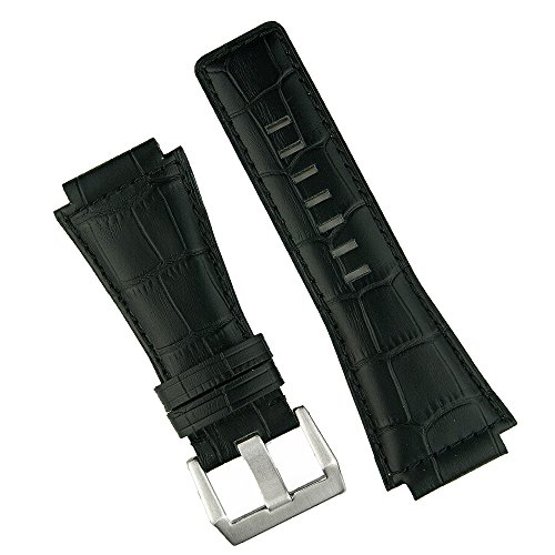 Bell-and-Ross-BR01-and-BR03-Black-Leather-Gator-Replacement-Watch-Band-Strap-in-a-Medium