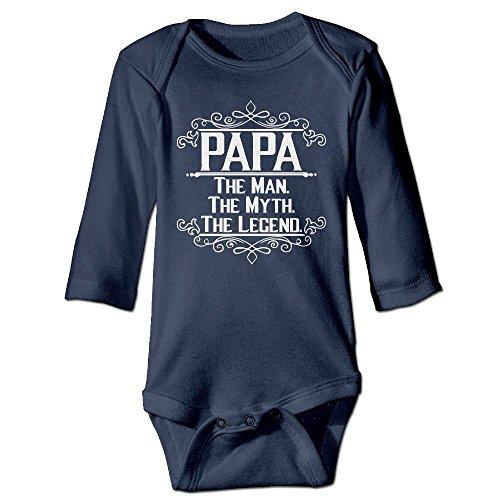 Richard Unisex Newborn Bodysuits Papa The Man The Myth The Legend Girls Babysuit Long Sleeve Jumpsuit Sunsuit Outfit 12 Months - Nerd Costume Diy Halloween
