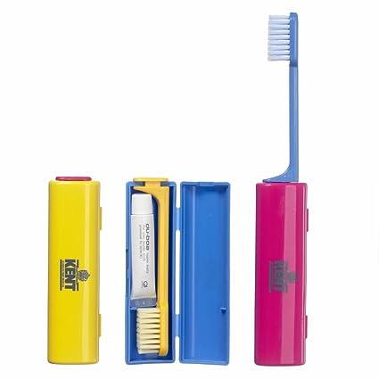 Kent de viaje cepillo de dientes con pasta de dientes azul 1 pieza