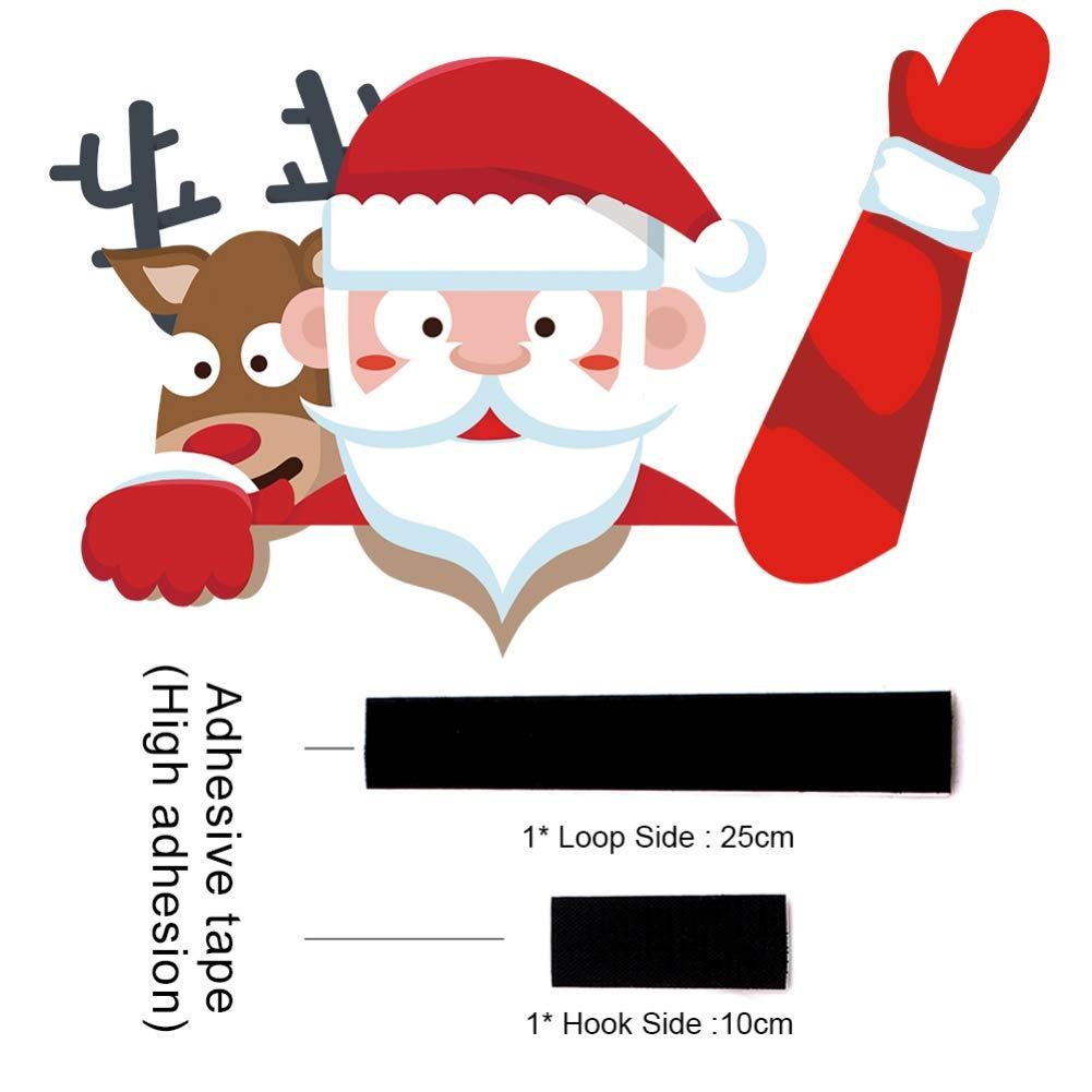 decalcomania tergicristallo parabrezza posteriore decalcomania Babbo Natale per adesivi finestrini e decalcomanie Forart Adesivo decalcomania tergicristallo lunotto posteriore