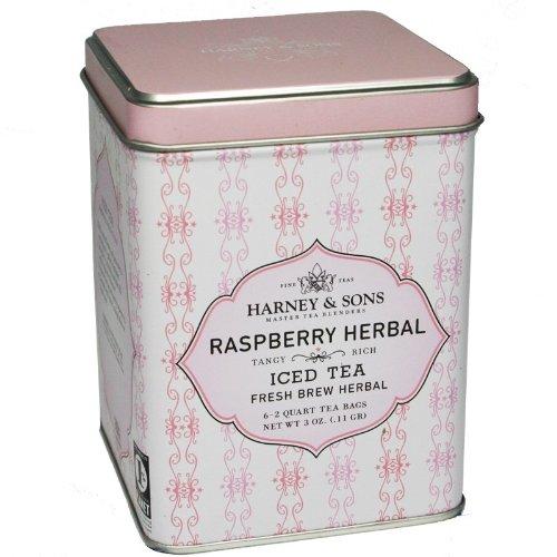 Harney & Sons Raspberry Herbal Iced Tea Tin
