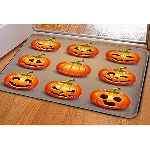 iBathRugs Door Mat Indoor Area Rugs Living Room Carpets Home Decor Rug Bedroom Floor Mats,Set Pumpkins Halloween -