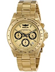 Invicta Mens 14929 Speedway Analog Display Japanese Quartz Gold Watch