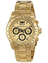 Invicta Men's 14929 Speedway Analog Display Japanese Quartz Gold Watch