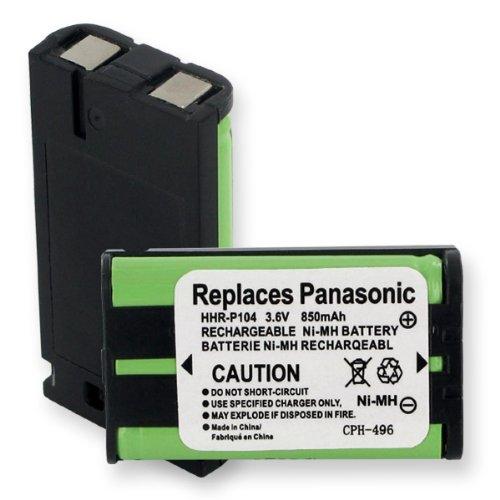 Cordless Phone Battery for Panasonic HHR-P104 3.6V NiMH, Office Central