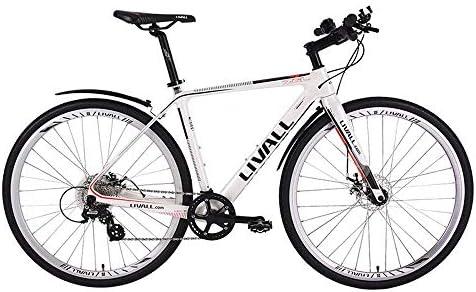 LLVAIL Fibra de carbono bicicleta de carretera bicicleta inteligente de bicicletas Cambio de velocidad ultra Disco