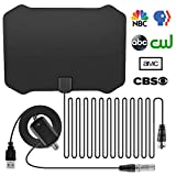 TV Antenna HDTV Amplifier Signal Booster Amplified HD Digital Amplified 80-120 Miles Range Digital TV Aerial HDTV Antenna 13 FT Long Cable for Stronger Reception for Digital and Analog TV Signals