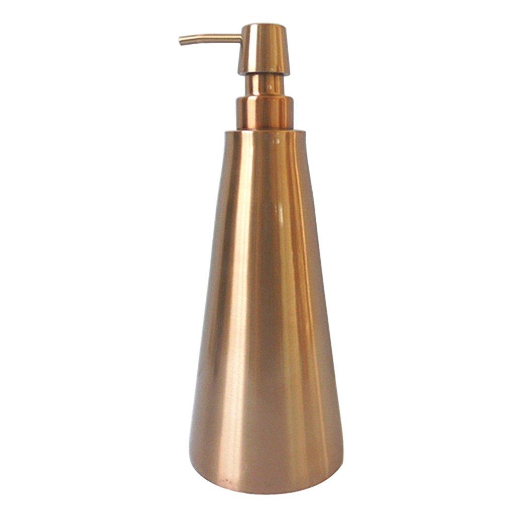 FLAMEER Dispensador De Jab/ón De Oro 800ml Encimera Champ/ú Bomba Loci/ón Champ/ú Botella