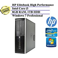HP Elite 6300 Pro High Performace Small Form Factor Business Desktop Computer (Intel Dual Core i3 up to 3.1GHz, 8GB DDR3 RAM, 1TB HDD, Windows 7 Professional) (Certified Refurbished)