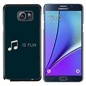 YiPhone /// Prima de resorte delgada de la cubierta del caso de Shell Armor - La música es diversión - Samsung Galaxy Note 5 5th N9200