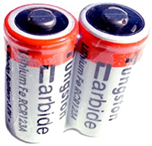 ExtremeBeam 3.0-Volt CR123 Rechargeable Lithium Battery (2-Pack)