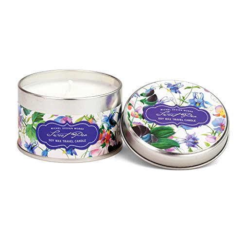 Michel Design Works Soy Wax Candle in Travel Tin Size, Sweet Pea ()