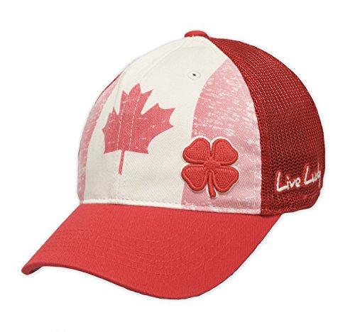 同志見る人スクレーパー新しいブラッククローバーLive LuckyヴィンテージCanada Tan /レッドFitted S / M帽子/キャップ