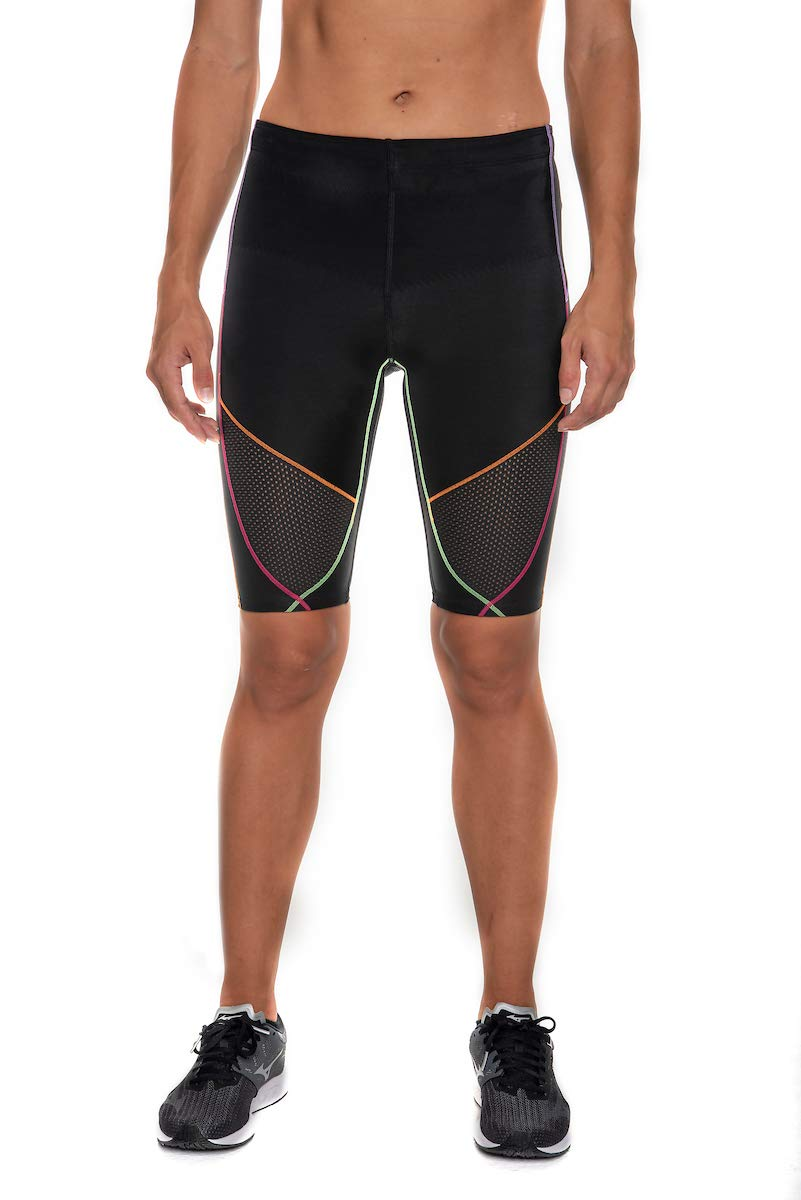CW-X Men's Stabilyx Ventilator Short, Black/Rainbow Small by CW-X (Image #1)