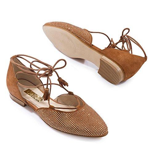 Gabor Women's Ballet Flats Brown Ambra Mid-brown 89kCknVoM